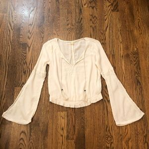 🖤Hollister Bell Sleeve Ivory Blouse—XS